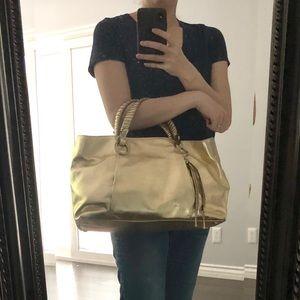 Gold leather Plinio Visona purse